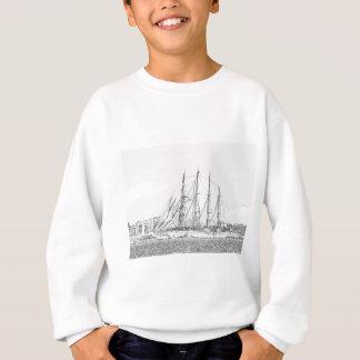 Frakten seglar under teckningen tröjor