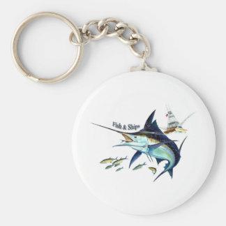 frakter för fisk n rund nyckelring