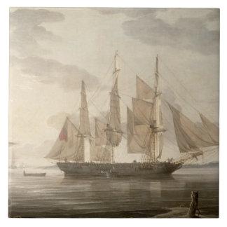 Frakter i hamnen, 1805 (olja på kanfas) kakelplatta