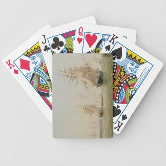 Fraktmålning (olja på kanfas) spel kort