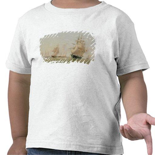 Fraktmålning (olja på kanfas) t-shirts