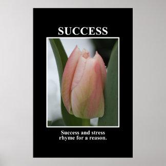 Framgång rimmar med spänningen för en resonera [XL Poster