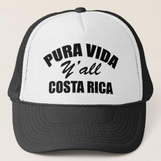 """Främja Costa Rica """"för rent liv"""" stil!!! Truckerkeps"""