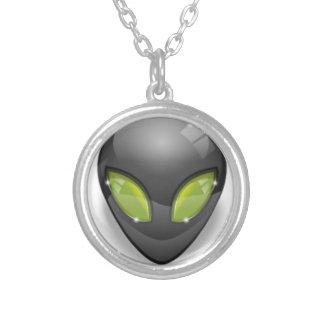Främling grå Design#2 Silverpläterat Halsband