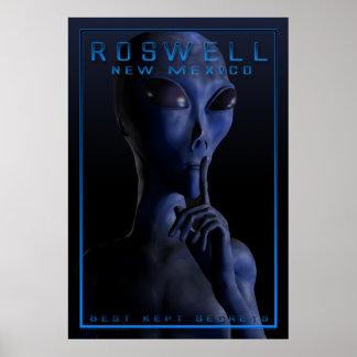 Främling och att vara, UFO, Roswell, gåta, möte, a Poster