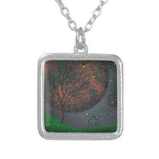 Främlingen landskap halsbandet silverpläterat halsband