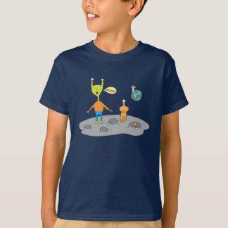 Främmande Lunar landskap t-skjortan Tee