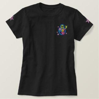 Främmande Matryoshka broderi lappar T-tröja Embroidered Shirt