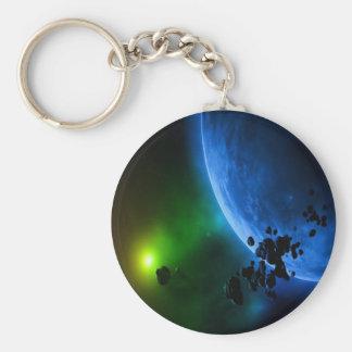 Främmande planet rund nyckelring