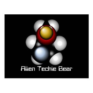 Främmande Techie björn Vykort