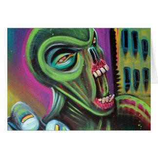 Främmande Zombie Hälsningskort