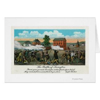 Framställning av striden av Lexington Hälsningskort