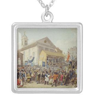 Framställning av valet av medlemmar silverpläterat halsband