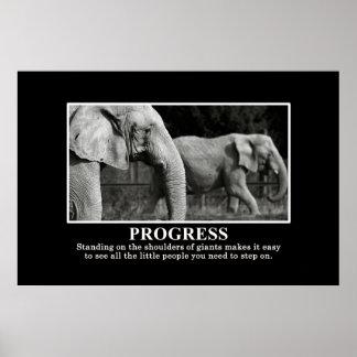 Framsteg, genom att stå på, knuffar av jättar XL Poster
