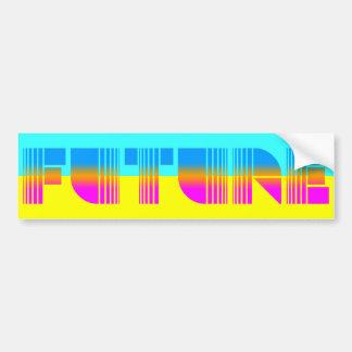 Framtid för stil för vintage för Corey tiger80-tal Bildekal