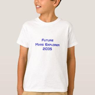 Framtid fördärvar astronaututforskaren som utrymme tee shirt