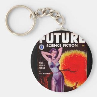Framtida 1953-01] _Pulpkonst för science fiction Rund Nyckelring