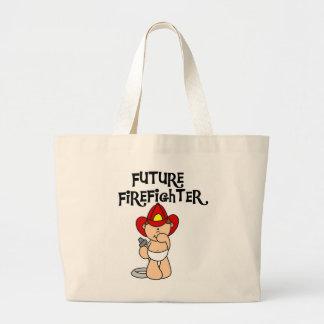 Framtida brandmanTshirts och gåvor för baby Jumbo Tygkasse