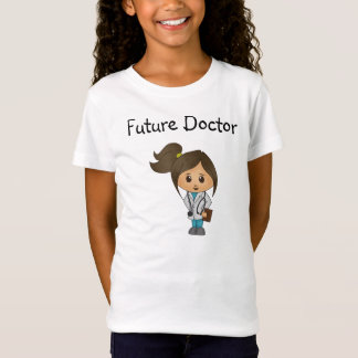 Framtida doktor - den kvinnliga gulliga doktorn - t-shirts