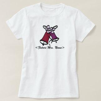 Framtida Fru Bröllop Sätta en klocka på T-shirts