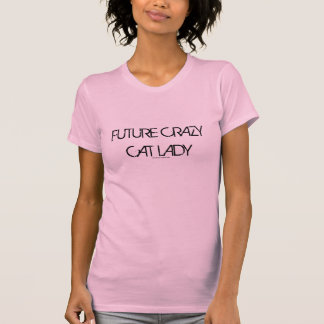 Framtida galen skjorta för kattdam Racerback Tee Shirt