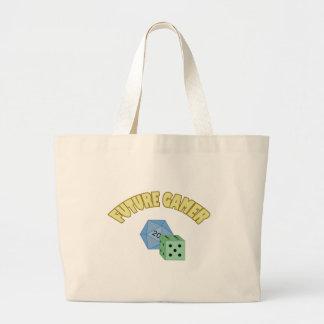 Framtida Gamer - gult & tärning Tote Bag