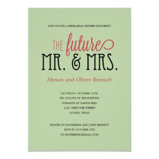 Framtida Herr och Fru repetition middag/Wedding 12,7 X 17,8 Cm Inbjudningskort