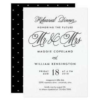 Framtida Herr och Fru repetition middaginbjudan 12,7 X 17,8 Cm Inbjudningskort