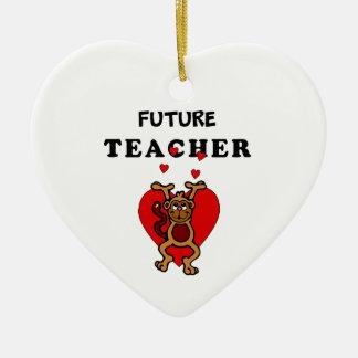 Framtida lärare julgransprydnad keramik