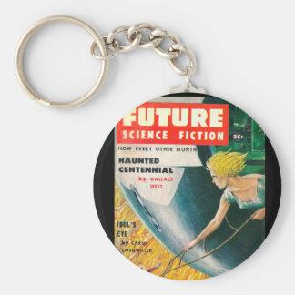 Framtida _Pulp för science fiction 35 Rund Nyckelring