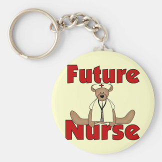 Framtida sjuksköterskaT-tröja och gåvor för björn Rund Nyckelring
