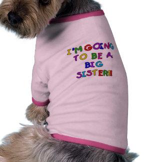 Framtida storasysterTshirts och gåvor för text Djurkläder