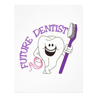 Framtida tandläkare brevhuvud