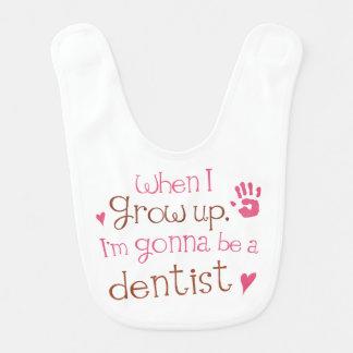 Framtida tandläkarebabyhaklapp hakklapp