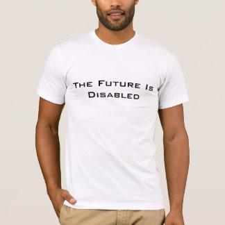 Framtiden är rörelsehindrad, manar T-tröja, vit Tröjor