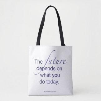 Framtiden beror på vad du bär på i dag tygkasse
