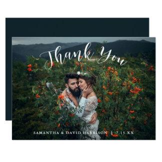 Från det gifta sig tack för berg | sänka kortet 12,7 x 17,8 cm inbjudningskort