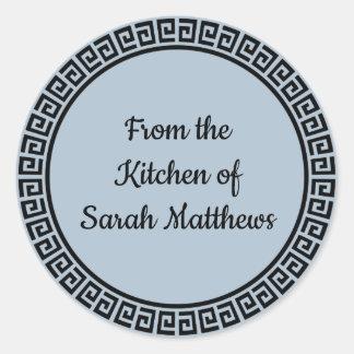 Från kök av klistermärkear runt klistermärke