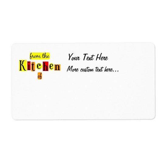 Från kök av Retro beställnings- sändningsetiketter Fraktsedel