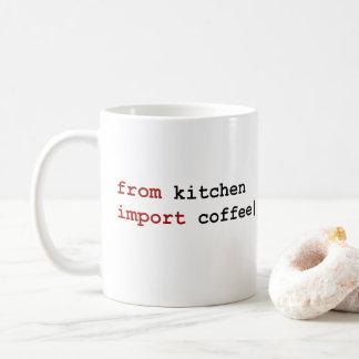 från kökimportkaffe - pytonormmugg vit mugg