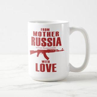 Från modern Ryssland med muggen för kärlek AK Kaffemugg
