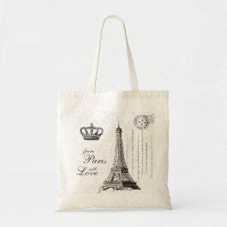 Från Paris med det kärlekvintage resorEiffel torn Budget Tygkasse
