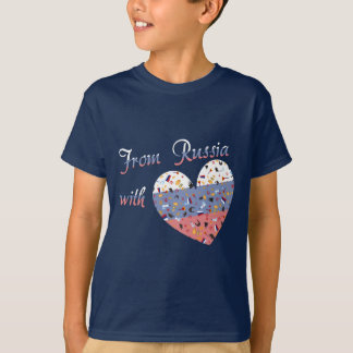 Från Ryssland med kärlektext och rysshjärta T-shirts