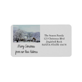 Från vår nya adress Winterwonderland Adressetikett