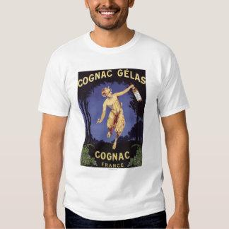 FranceCognac Gelas befordrings- PosterFrance Tee Shirt
