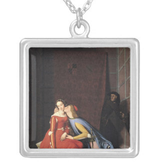 Francesca da Rimini och Paolo Malatesta, 1819 Silverpläterat Halsband