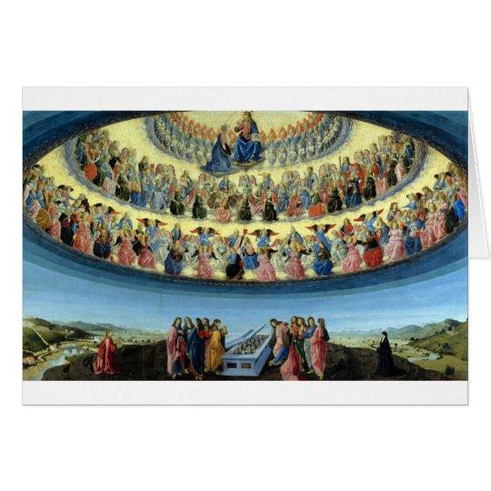 Francesco_Botticini_-_The_Assumption_of_the_Virgin Hälsningskort