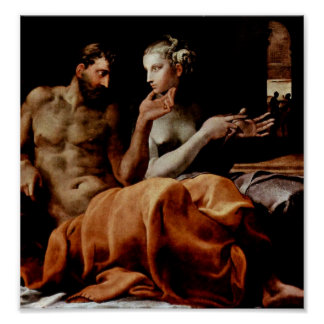 Francesco Primaticcio - Odysseus och Penelope Poster