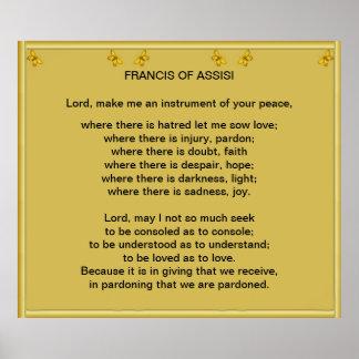 Francis av den Assisi bönen Affisch