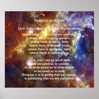 Francis av den Assisi bönen Affischer
